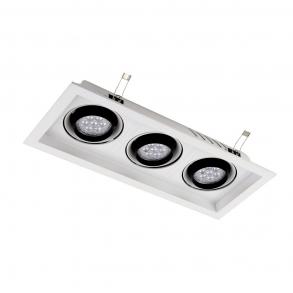 2160 lumens 3 spotlights LED ceiling lamp
