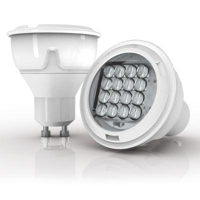 415 lumens GU10 LED spotlight focussed angle