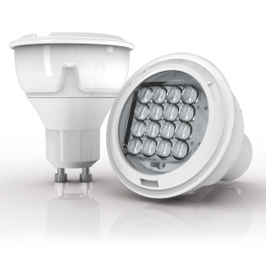 415 lumens GU10 LED spotlight focussed angle