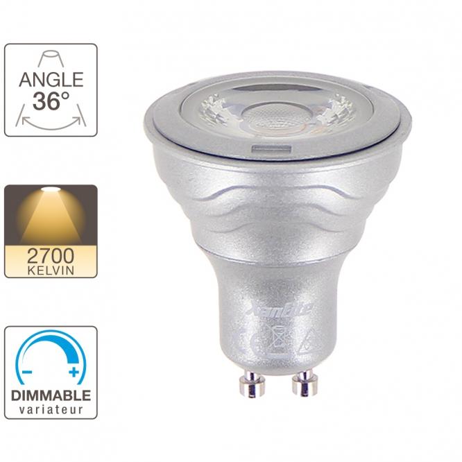Ampoules Spots LED Platinium 36° Spot 345 Lumens GU10 Dimmable Xanlite